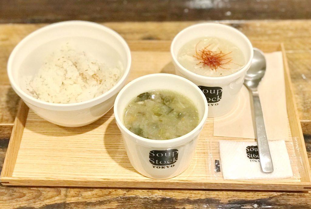 生姜とオクラのミネストローネ、東京参鶏湯