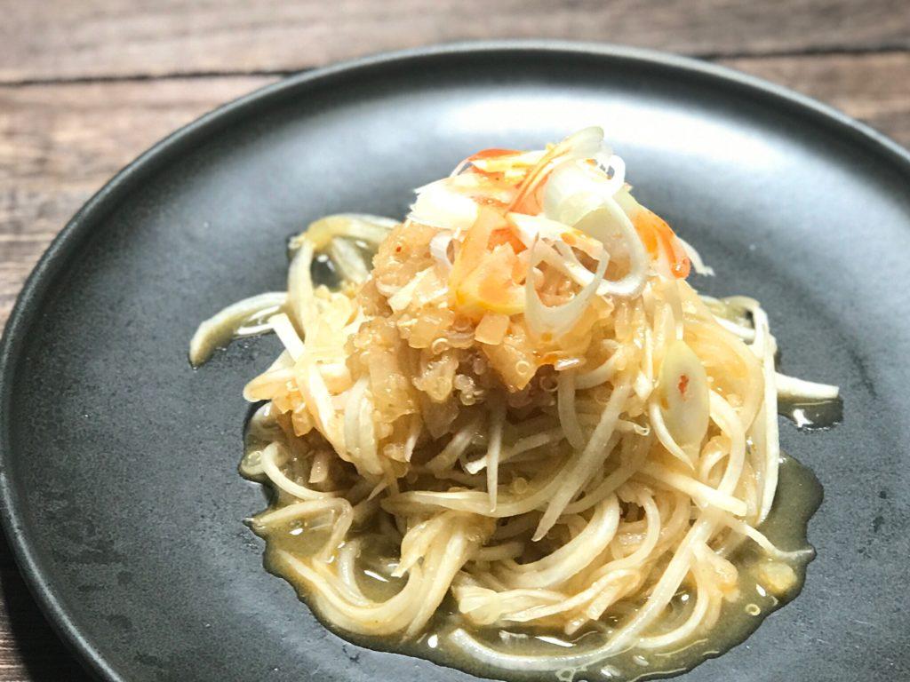 ベジヌードル 大根とキヌアのジャージャー麺風