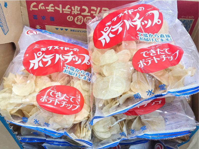 菊水堂のポテトチップス成城石井で購入