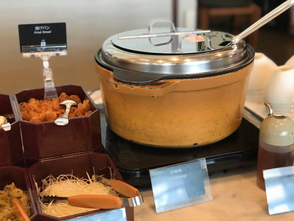 マリオットアソシアモーニングの中華粥