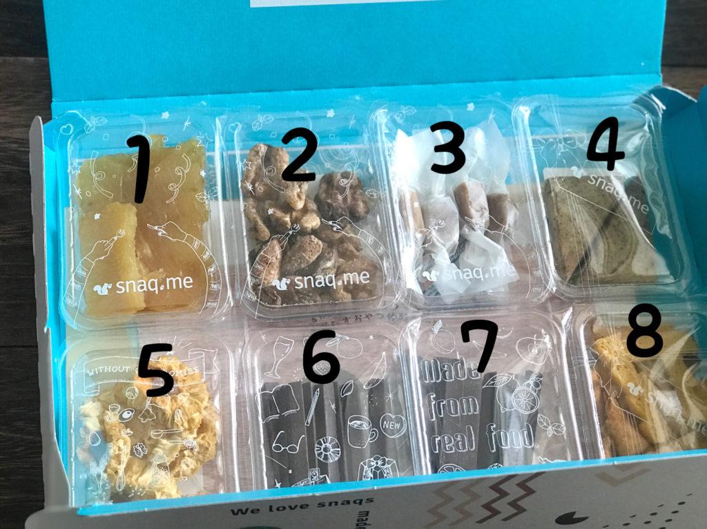 届いたスナックミー 8種類