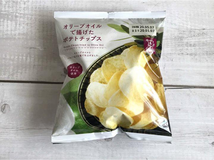 小麦不使用のオリーブオイルで揚げたポテトチップス